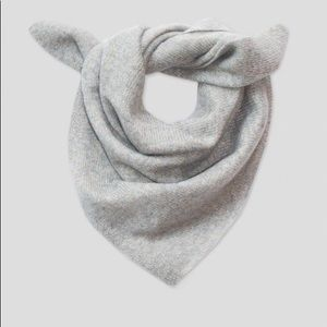 Gray Cashmere shine neckerchief